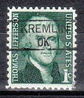 USA Precancel Vorausentwertung Preo, Locals Oklahoma, Kremlin 735,5 - Préoblitérés