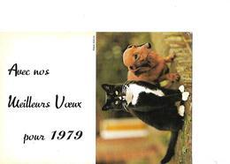 Calendrier De Poche 1979 / Chat Noir Et Chien - Calendars