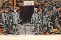 CPA  Suisse, Entrée Du Tunnel Du SIMPLON à BRIGUE Avec 5 Mineurs En Tenue. - VS Valais