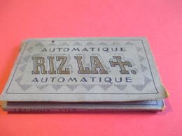 Carnet De Papier Cigarettes/RIZ LA +/Automatique/Couverture Bleue//Lacroix Fils Angouléme/Vers1920-1950  CIG43 - Cigarettes - Accessoires