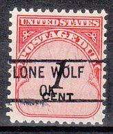USA Precancel Vorausentwertung Preo, Locals Oklahoma, Lone Wolf 841 - Vereinigte Staaten