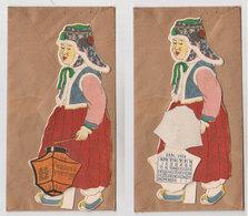 Superbe Calendrier Japonais Chinois ?  1934 - Calendars