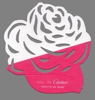 Carte Echantillon -  Advertising Card -  Goutte De Rose De Cartier - Modernes (à Partir De 1961)