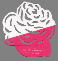 Carte Echantillon -  Advertising Card -  Goutte De Rose De Cartier - Modern (from 1961)