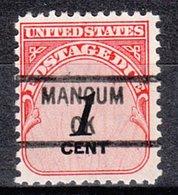 USA Precancel Vorausentwertung Preo, Locals Oklahoma, Mangum 841 - Vereinigte Staaten