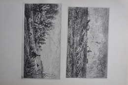 GRAVURES 1020-1021 / L'ONDEE - LE PRINTEMPS  Par CHARLES FRANCOIS DAUBIGNY - Prints & Engravings