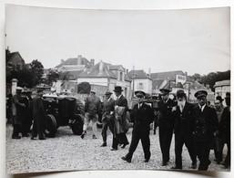 Photo Originale SENS Inauguration Foire Années 50 Officiel Militaire - Sens