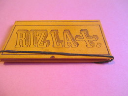 Carnet  Papier Cigarettes/RIZ LA +/LACROIX Fils/Couverture Orange Cartonné/N°32/exigez La Signature/Vers1920-1950 CIG45 - Cigarettes - Accessoires