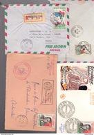 1960-1963 : 4 Lettres ( 1 Fdc + 1 Recommandé+1 Cachet Section Des Infirmiers D'outremer ) - Madagascar (1960-...)