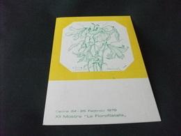 CECINA 1979 XII MOSTRA LA FLOROFILATELIA  ILLUSTRATORE DANIEL SCHINASI  LIVORNO - Manifestazioni