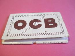 Carnet Papier Cigarettes/OCB/Papeteries R Bolloré/Couverture Carton Blanc/DRUM/N°4/Finistére/Vers1920-1950 CIG46 - Cigarettes - Accessoires