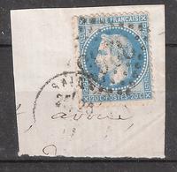 Empire Lauré N° 29 Obl GC 3265 + Cachet De SAINTES, Charente Maritime ,sur  Fragment, TB ! - 1863-1870 Napoléon III Lauré