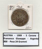 Austria - 1909 - 5 Corone - Argento - (MW81) - Autriche