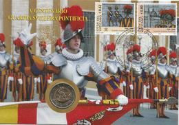 Vaticano Busta Filatelico/numismatica 2006 Anno Guardia Svizzera Con 2 Euro Commemorativo - Vaticano