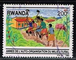 Ruanda 1989, Michel# 1420 O     Rural Organization Year - Rwanda