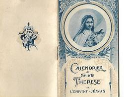 Calendrier De Poche 1934 / Religieux / Joli Calendrier De SAINTE THERESE De L'Enfant JESUS / 10 Pages - Calendars