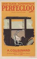 """PUB LEVE-GLACE """" PERFECLOQ """" - A. COUSINARD """" CONSTRUCTEUR, 31 RUE DE BECON, COURBEVOIE (92) - - Advertising"""