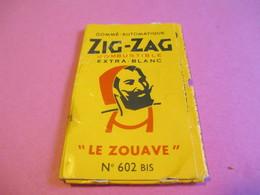 Carnet Papier Cigarettes/ZIG-ZAG Gommé Automatique/combustible/Le Zouave/Braustein Fréres Paris/Vers1960-1970      CIG49 - Around Cigarettes