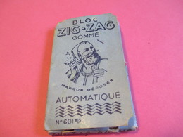 Carnet Papier Cigarettes/Bloc ZIG-ZAG Gommé/Automatique/N°601 Bis/Fin , Résistant/Vers 1920-1950    CIG50 - Cigarettes - Accessoires