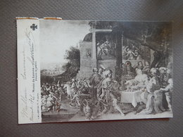 MUSEE DU LOUVRE - HISTOIRE D'ESTHER - FRANK LE VIEUX - TIMBREE 1908 - R13710 - Paintings
