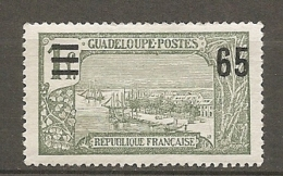 GUADELOUPE -  Yv. N°  90  *   65c S 1f,    Cote  1,4  Euro  BE 2 Scans - Guadeloupe (1884-1947)