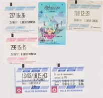 Lot De 5 Tickets De Parkings Cancale, Mt De Marsan, Biarritz, Bordeaux - Tickets - Vouchers