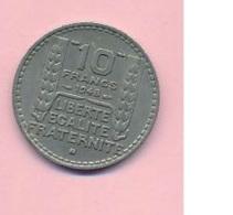 Pièce De Mommaie  - B3113 -  France - 10 Francs 1948 ( Type, Nature, Valeur, état... A Apprécier D'après Double Scan) - France