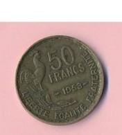 Pièce De Mommaie  - B3114 -  France - 50 Francs 1953 ( Type, Nature, Valeur, état... A Apprécier D'après Double Scan) - M. 50 Francs