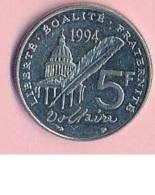 Pièce De Mommaie  - B3118-  France - 5 Francs 1994 ( Type, Nature, Valeur, état... A Apprécier D'après Double Scan) - France