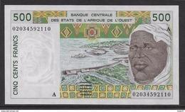 Côte D'Ivoire - 500 Francs - 2002  - Pick N°110Am - Neuf - Côte D'Ivoire