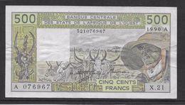 Côte D'Ivoire - 500 Francs - 1990  - Pick N°106Am - TTB - Côte D'Ivoire