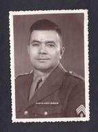 Photo Originale Guerre Indochine Portrait  Gendarme Prevote Des F.T.N.V. Poste De Haiduong Dédicacée à Son Ami Godrin - War, Military