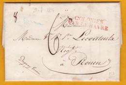 1824 -LAC De Saint Pierre,  Martinique Vers Rouen Sur Navire Duguay Trouin, Colonies  Par Le Havre - Postmark Collection (Covers)