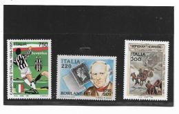 3 Francobolli - Lire  750 Campione D'italia - Lire 220 Rowland Hill - Lire 500 Domenica Del Corriere - - 1946-.. République