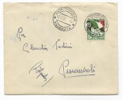 LIRE 25 FIERA DI TRIESTE  ANNO 1952  SU LETTERA - - 1946-60: Usati
