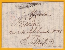 1818 - Lettre Privée (2 Pages) De Saint Pierre, Martinique Vers Paris - Entrée Par Bordeaux - Postmark Collection (Covers)