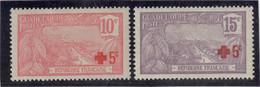 CP 100 - GUADELOUPE - PO 75/76 * De 1915-1917  ( Charnière ) - BASSE TERRE. - Guadalupe (1884-1947)