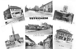 Téteghem Poste Station Total Monument Aux Morts 32e DI - Autres Communes