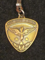 """France WW1, Médaille Aviation, """"On Les Aura"""", Insigne Ailes Et Hélice. - France"""