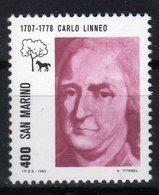 San Marino 1983 Celebrity Carlo Linneo - Celebrità