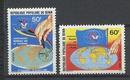 BENIN 1980  N° 503/504 ** Neufs MNH Superbes C 1,80 € Tourisme Manille Iles Philippines Drapeaux Conférence - Benin – Dahomey (1960-...)