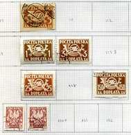 N° 14 Timbres Taxe De Pologne - Impuestos