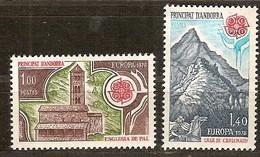 Andorra Andorre Cept 1978 Yvertn° 269-270 *** MNH Cote 27,00 Euro Europa - Andorre Français