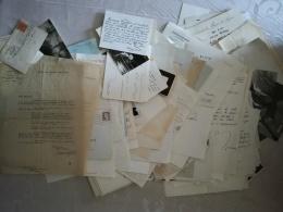 Gros Lot De 650grammes ( Près De 200 Piéces). Politique, Arts, Musichall (annes 1960) .... TTTB état - Autogramme & Autographen