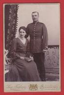 Photo  -  Un Soldat Et Son épouse -  Strasbourg  --Atelier L Frohnein - Guerre, Militaire