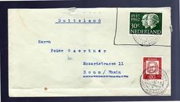 Cancel BAHNPOSTAMT KÖLN-DEUTZ Mixed Franking 1962  (La14-4) - Period 1949-1980 (Juliana)
