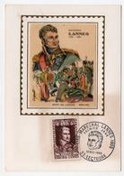 Maréchal Lannes Essling Napoléon Carte Maximum 1969 état Très Bon - Familles Royales
