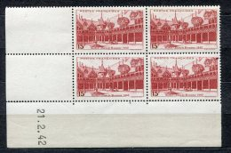 6341  - FRANCE    N°539**  15Fr  Brun-carminé   Hôtel-Dieu De Beaune    Du  21/2/42     TTB - 1940-1949