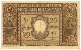 20 SOMALI AMMINISTRAZIONE FIDUCIARIA DELLA SOMALIA 1950 BB/BB+ - [ 6] Colonie