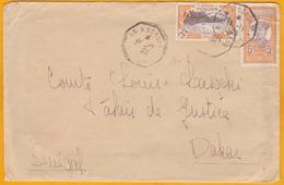 Circa 1926 - Enveloppe De Martinique Vers Dakar, Sénégal Par Ligne Maritime Colon à Bordeaux - Affrt 30 C - Postmark Collection (Covers)